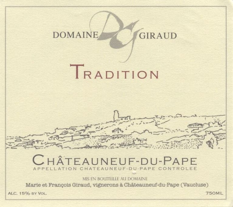 Domaine Giraud Chateauneuf-du-Pape Tradition 2017  Front Label