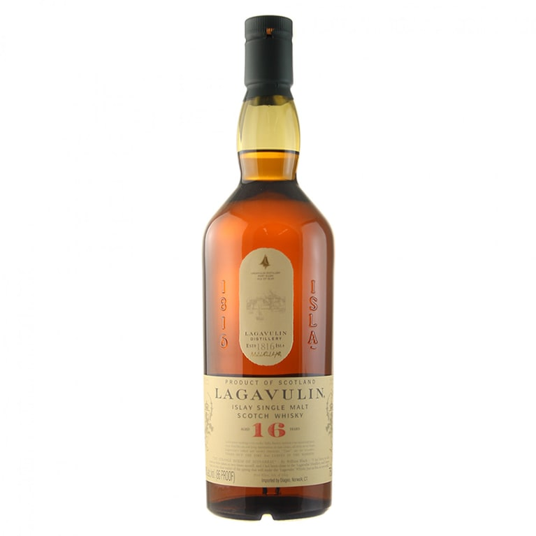 Lagavulin 16 Year Islay Single Malt Scotch Whisky Front Bottle Shot