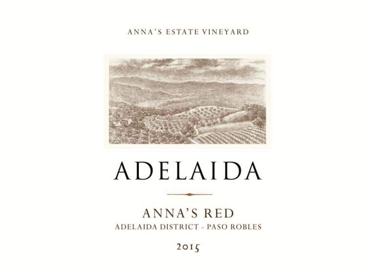 Adelaida Anna's Red 2015 Front Label