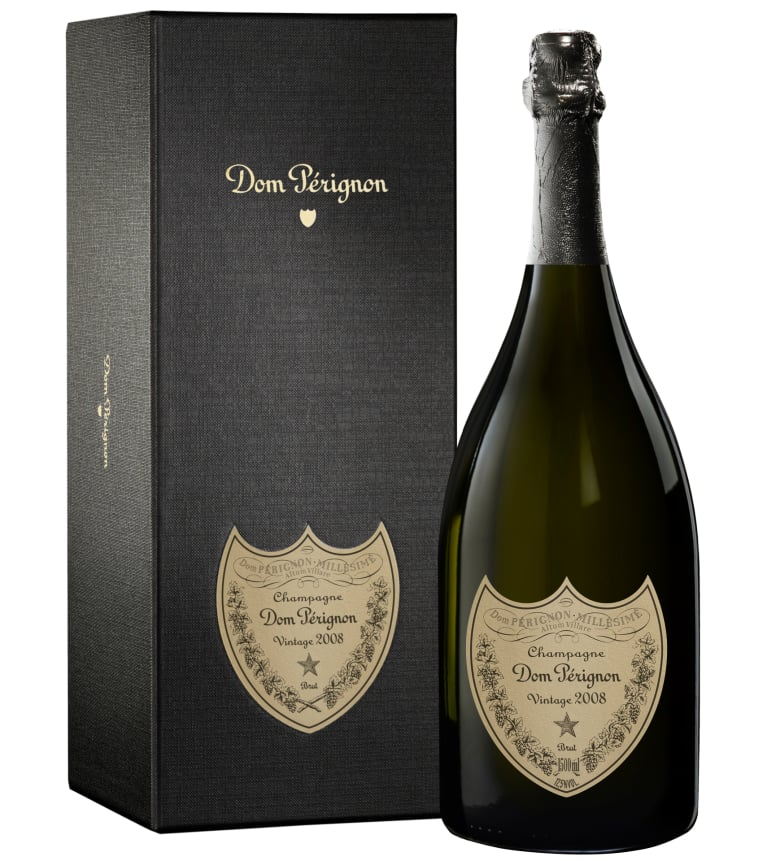 Dom Perignon Vintage with Gift Box 2008 Front Bottle Shot