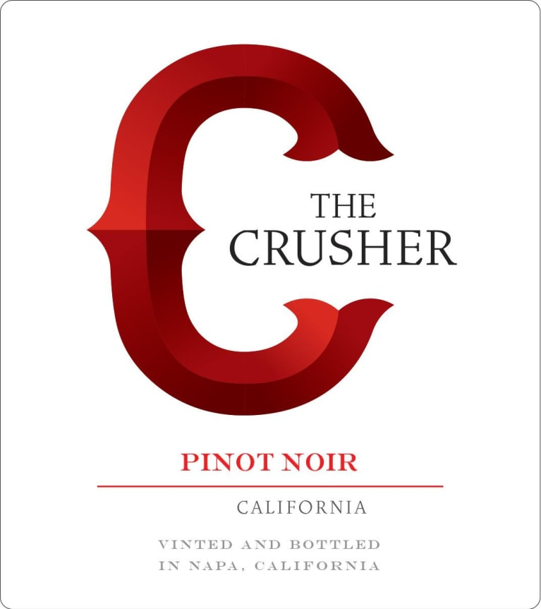 The Crusher Pinot Noir 2017 Front Label