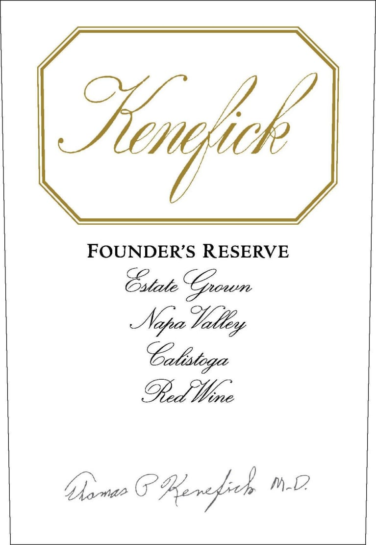 Kenefick Ranch Founder's Reserve 2013 Front Label