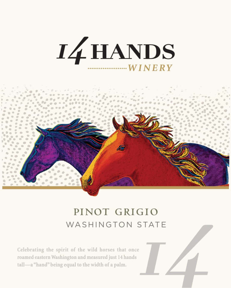 14 Hands Pinot Grigio 2018  Front Label