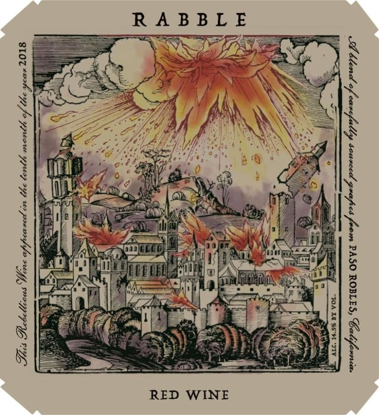 Rabble Red Blend 2018  Front Label