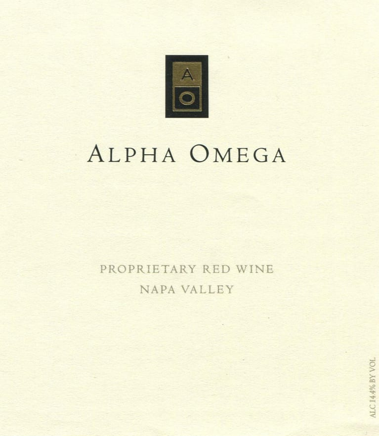 Alpha Omega Proprietary Red 2016 Front Label