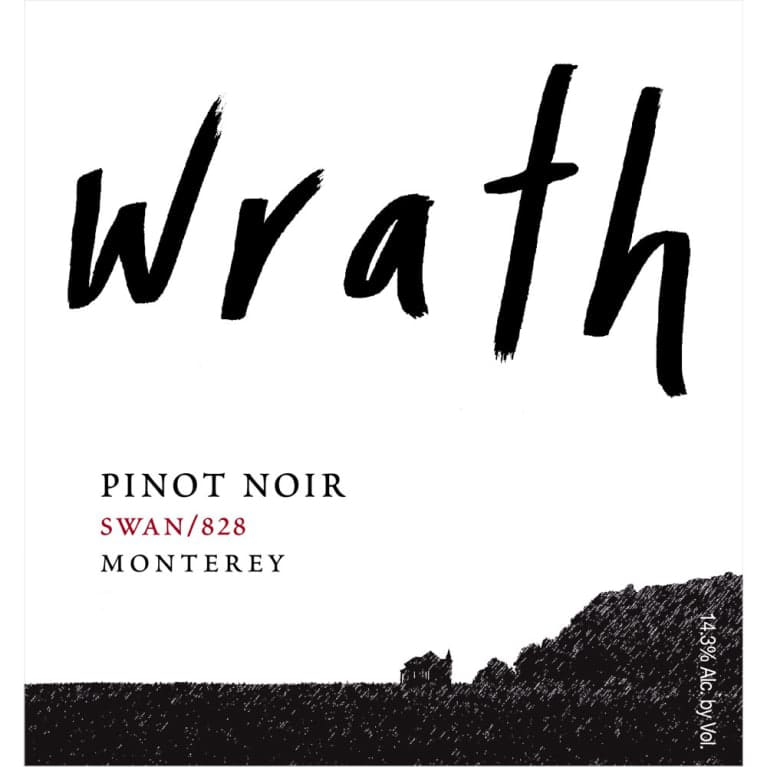 Wrath Swan 828 Pinot Noir 2016  Front Label