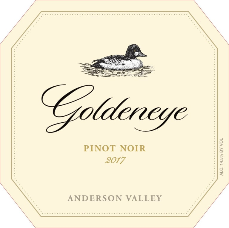 Goldeneye Anderson Valley Pinot Noir (375ML half-bottle) 2017  Front Label