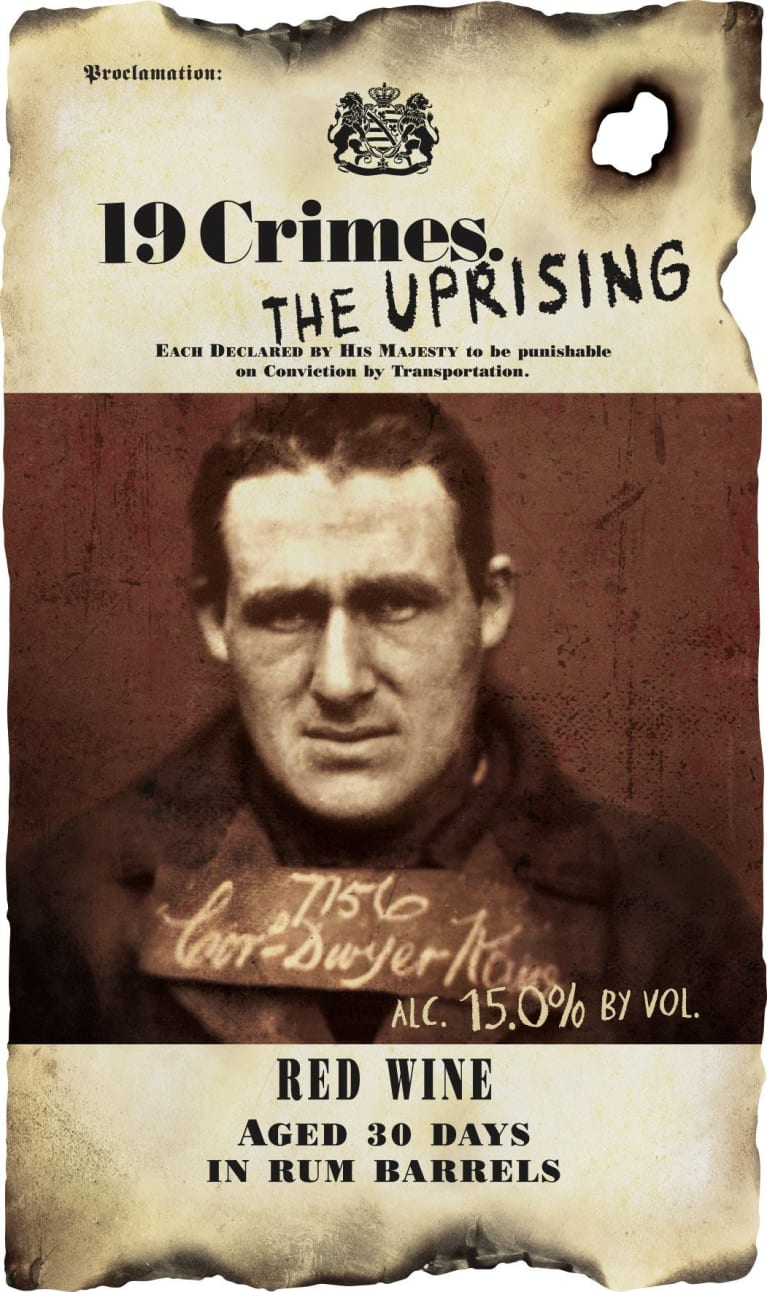 19 Crimes The Uprising 2018 Front Label