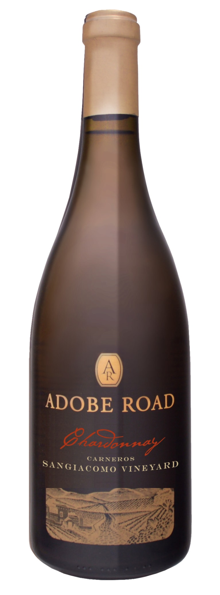 Adobe Road Sangiacomo Vineyard Chardonnay 2015  Front Bottle Shot