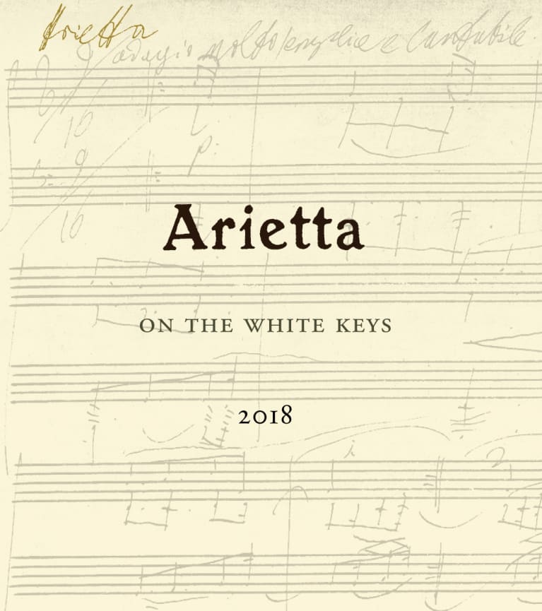 Arietta On The White Keys White Blend 2018  Front Label