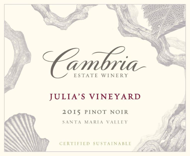 Cambria Julia's Vineyard Pinot Noir 2015 Front Label