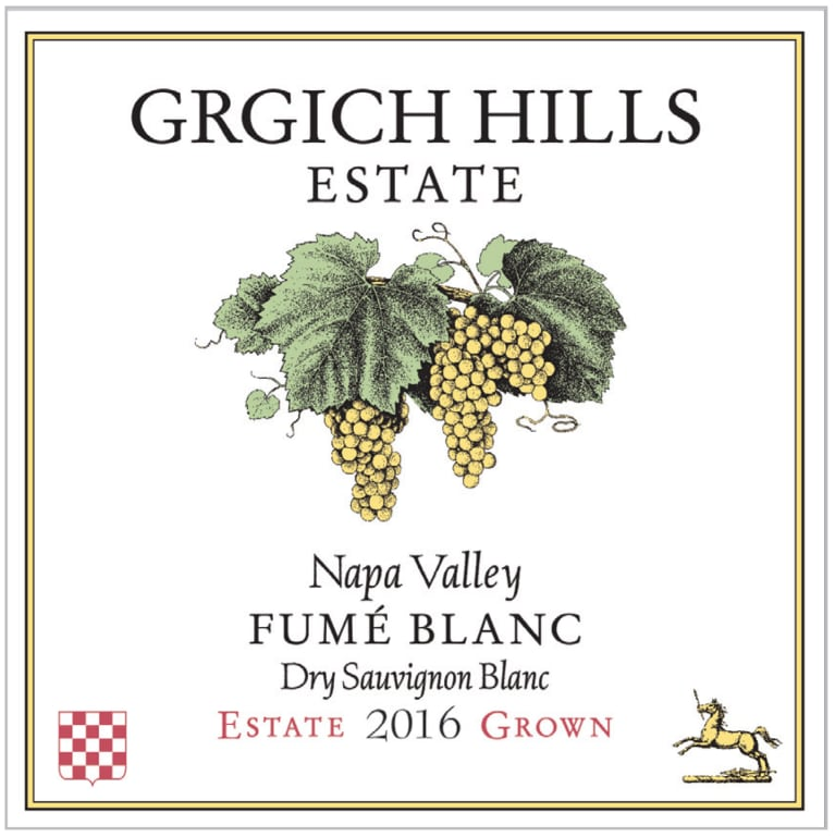 Grgich Hills Estate Fume Blanc 2016  Front Label
