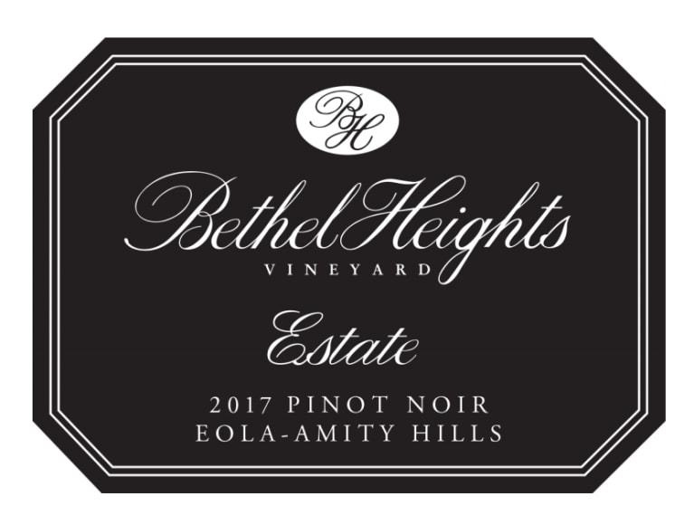 Bethel Heights Estate Pinot Noir 2017 Front Label