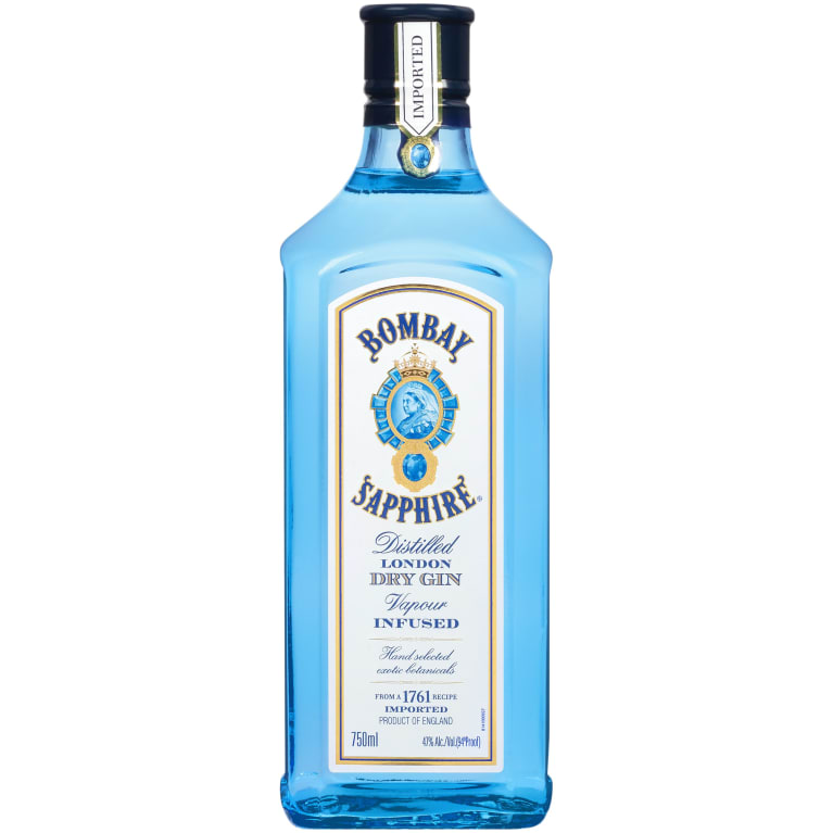 Bombay Sapphire Gin  Front Bottle Shot