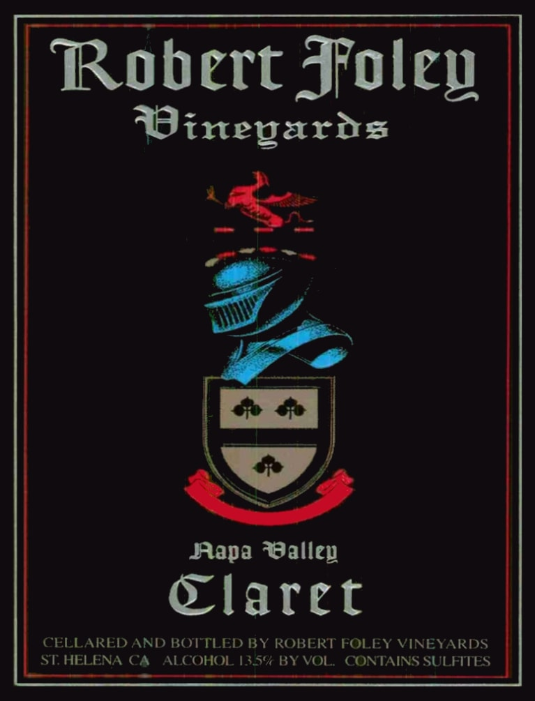 Robert Foley Vineyards Claret (3 Liter - signed) 2004  Front Label