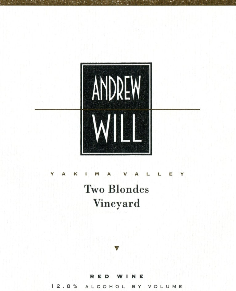Andrew Will Winery Two Blondes Vineyard Red 2017  Front Label