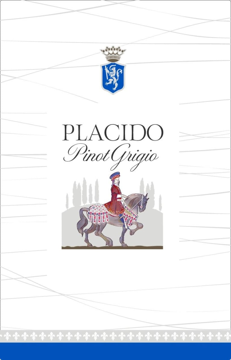 Placido Pinot Grigio 2019  Front Label