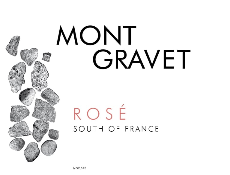 Mont Gravet Rose 2018  Front Label