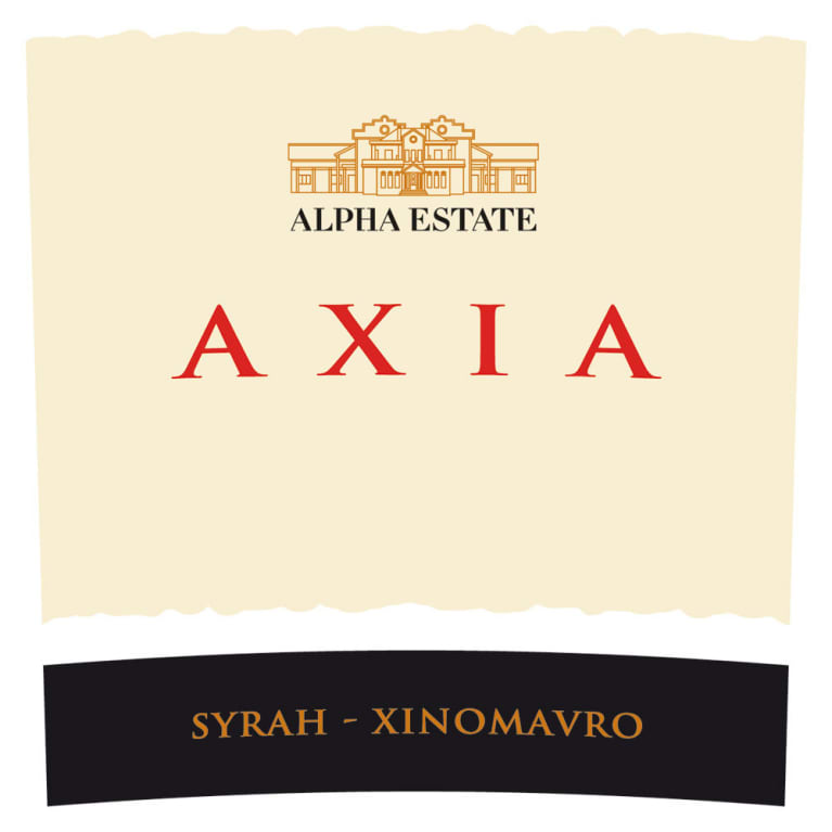 Alpha Estate Axia Red 2015  Front Label