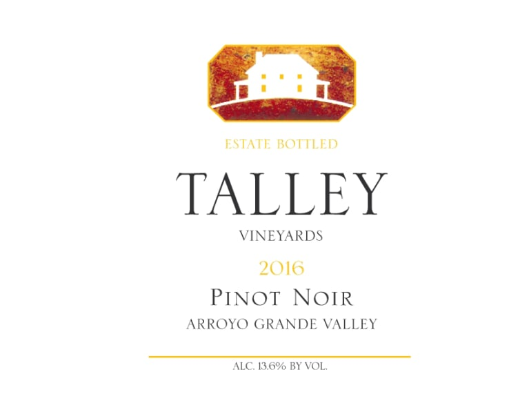 Talley Arroyo Grande Valley Estate Pinot Noir 2016 Front Label