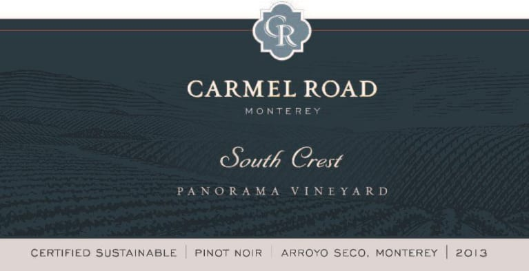 Carmel Road South Crest Pinot Noir 2013 Front Label