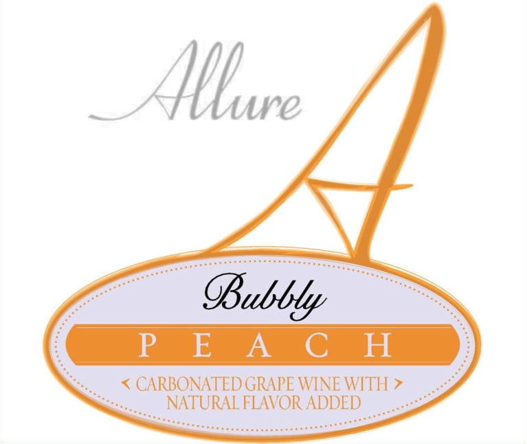 Allure Bubbly Peach  Front Label