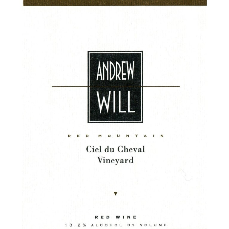 Andrew Will Winery Ciel du Cheval 2015  Front Label