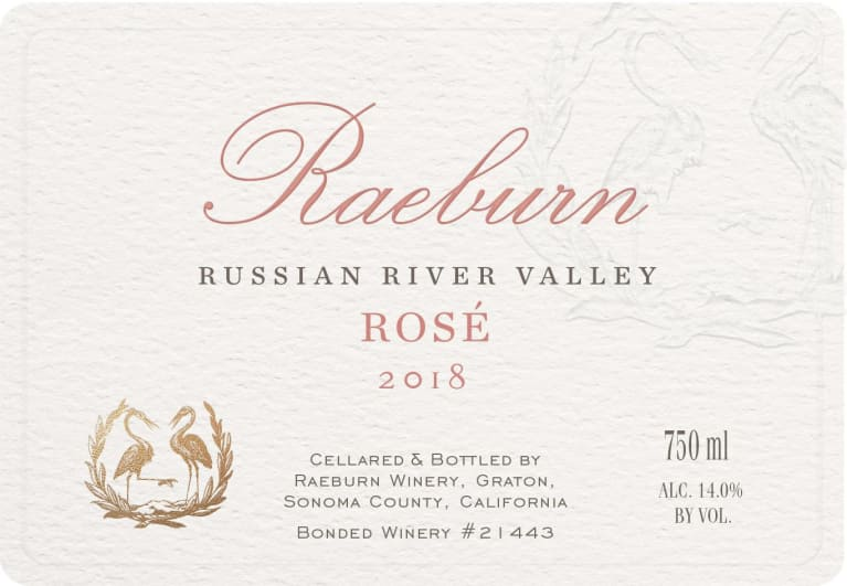 Raeburn Rose 2018  Front Label