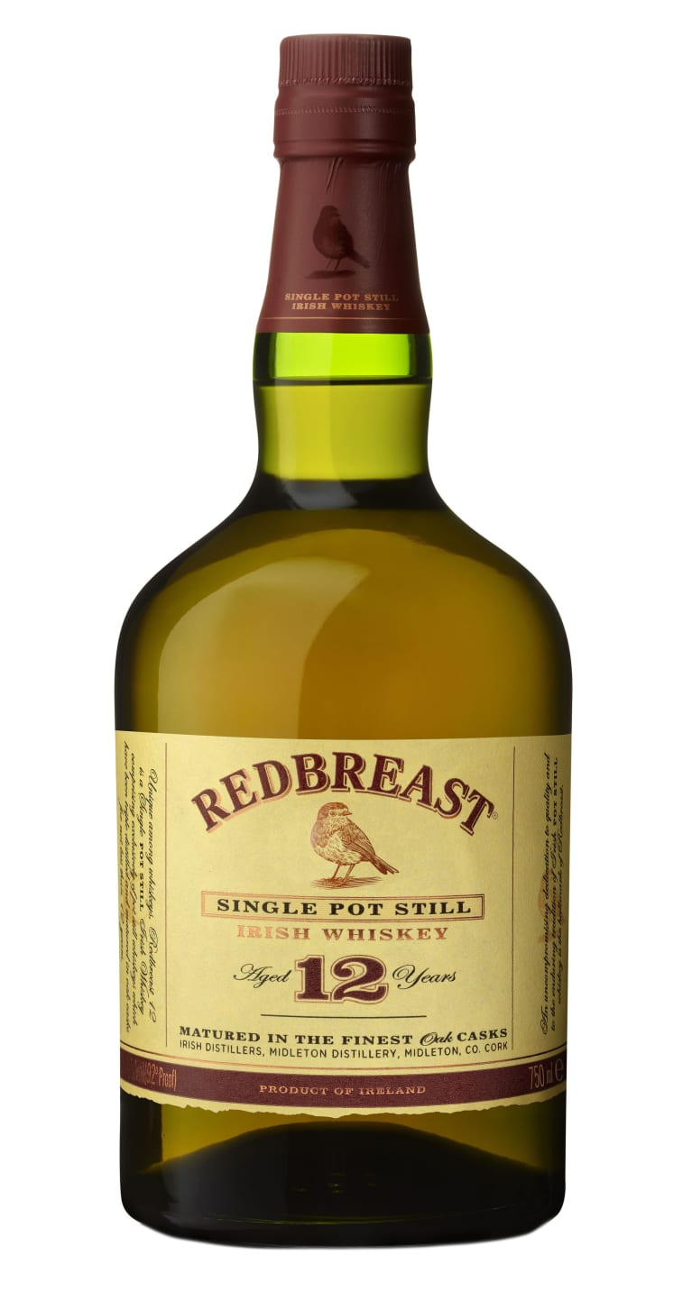 Redbreast 12 Year Single Pot Irish Whiskey  Front Bottle Shot
