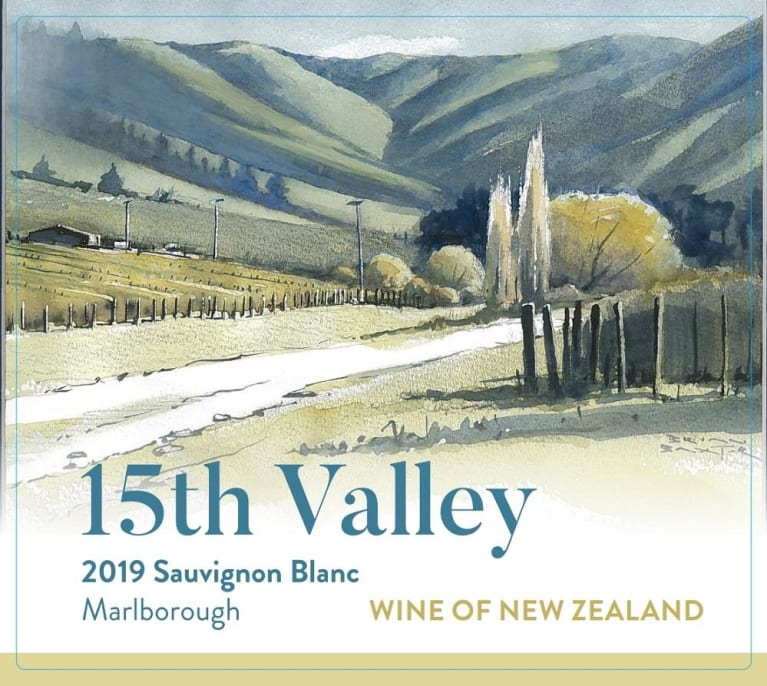 15th Valley Sauvignon Blanc 2019  Front Label