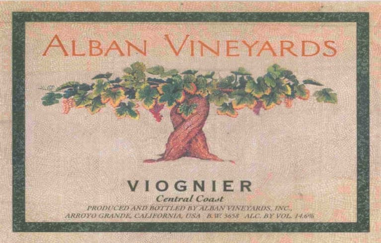 Alban Central Coast Viognier 2017 Front Label