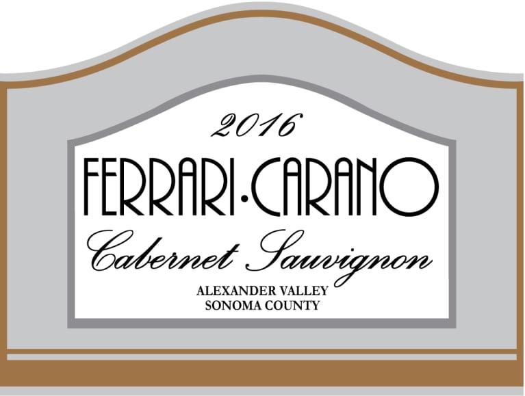 Ferrari Carano Cabernet Sauvignon 2016 Wine Com