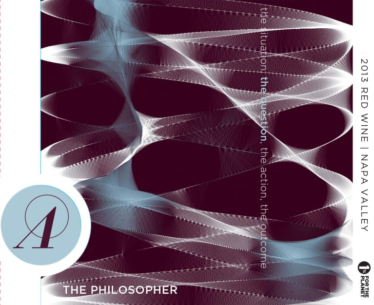 Anarchist Wine Co. The Philosopher 2013  Front Label