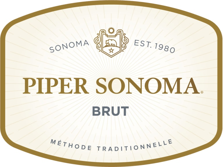 Piper Sonoma Brut  Front Label