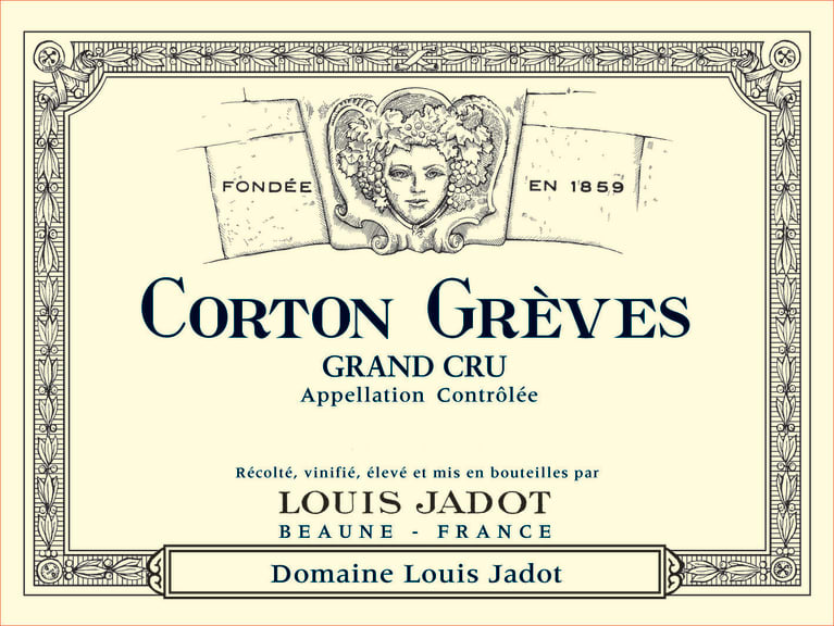 Louis Jadot Corton Greves Grand Cru 2016 Front Label