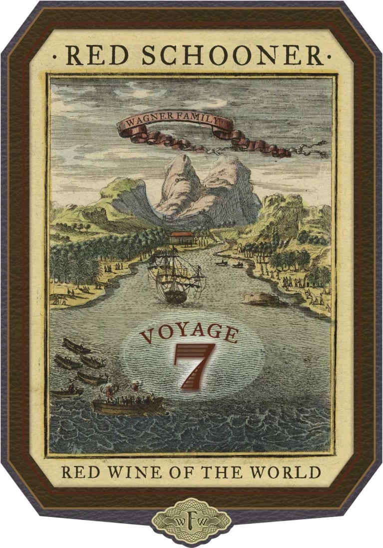 Red Schooner by Caymus Voyage 7  Front Label