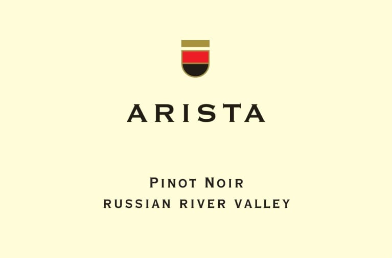 Arista Winery Russian River Valley Pinot Noir 2015 Front Label