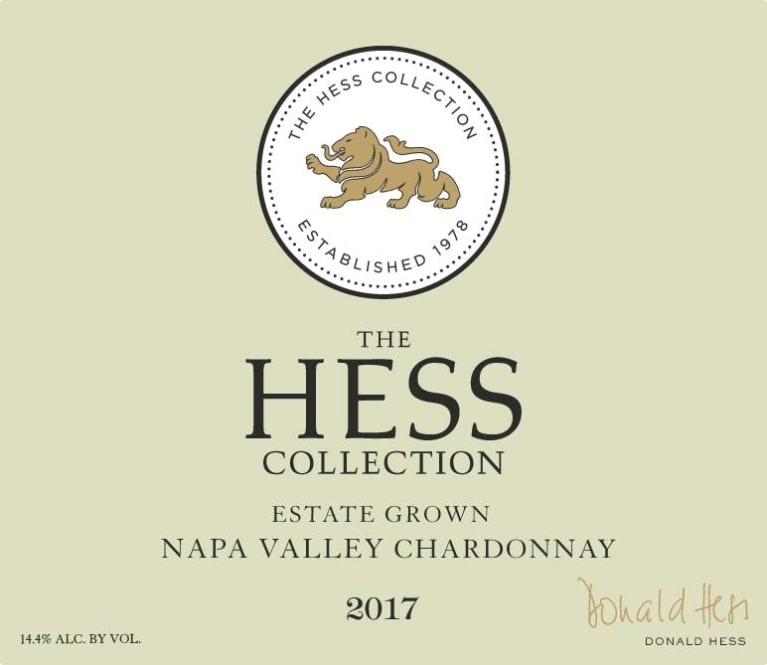 Hess Collection Napa Valley Chardonnay 2017 Front Label