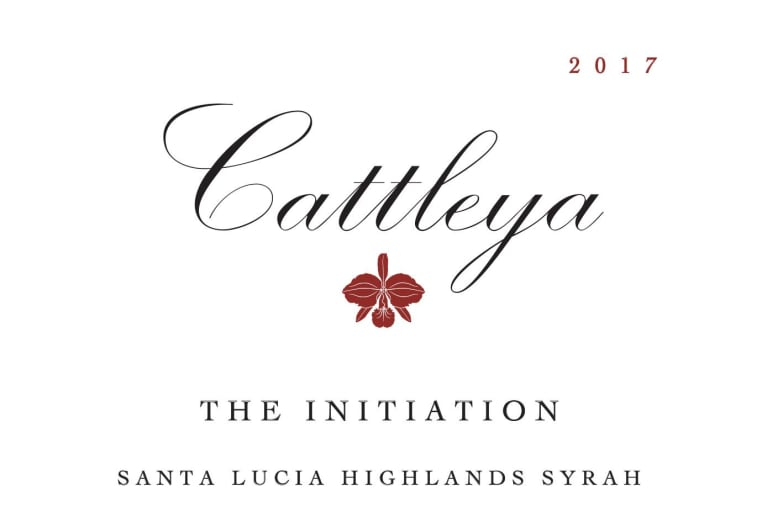 Cattleya Wines The Initiation Syrah 2017  Front Label