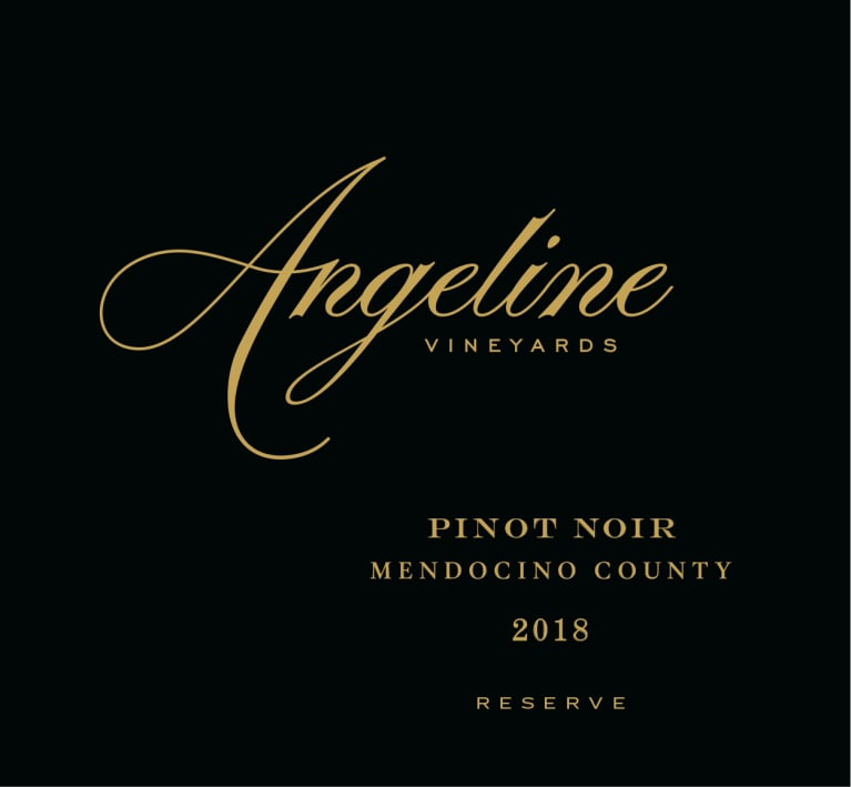 Angeline Reserve Pinot Noir 2018  Front Label