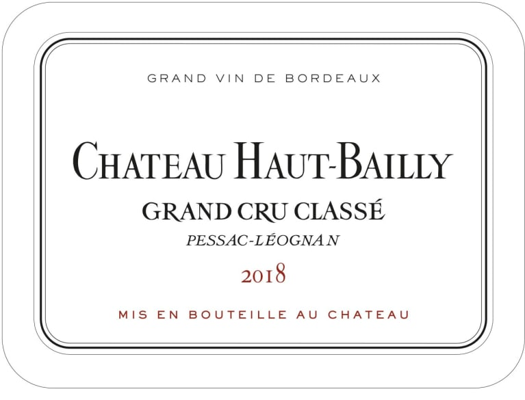 Chateau Haut-Bailly (Futures Pre-Sale) 2018 Front Label