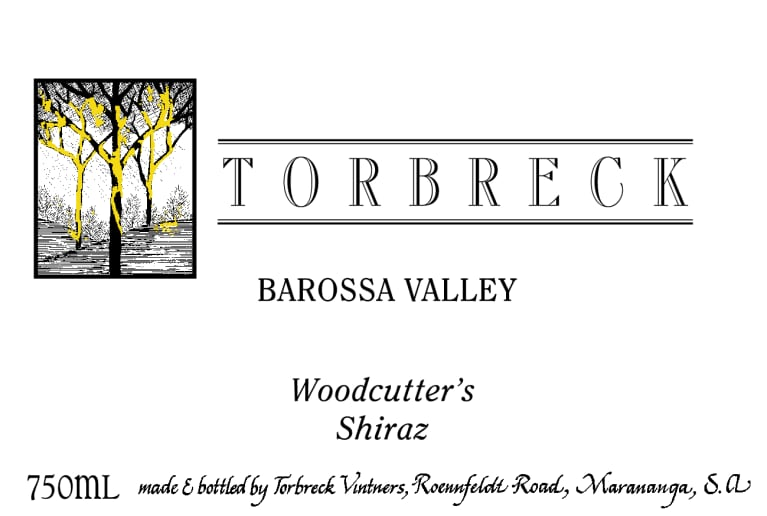 Torbreck Woodcutters Shiraz 2018  Front Label