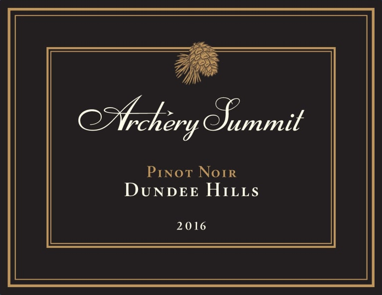 Archery Summit Dundee Hills Pinot Noir 2016 Front Label