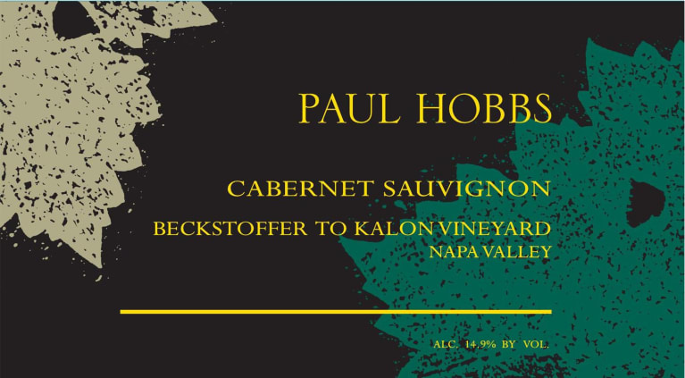 Paul Hobbs Beckstoffer To Kalon Vineyard Cabernet Sauvignon 2015 Front Label