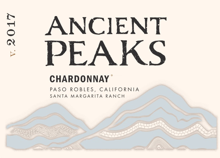 Ancient Peaks Chardonnay 2017 Front Label