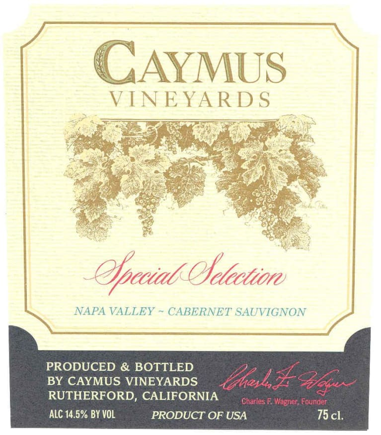 Caymus Special Selection Cabernet Sauvignon (1.5 Liter Magnum) 2015 Front Label