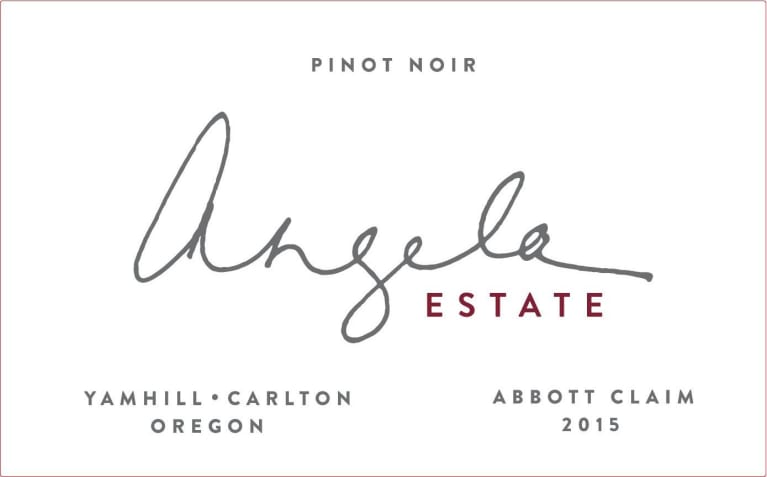 Angela Vineyards Abbott Claim Pinot Noir 2015 Front Label