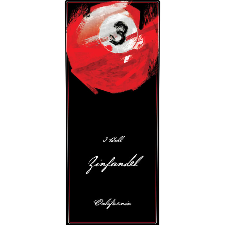 3 Ball Zinfandel 2016  Front Label
