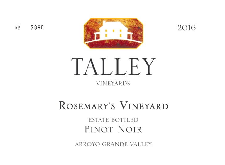 Talley Rosemary's Vineyard Pinot Noir 2016  Front Label