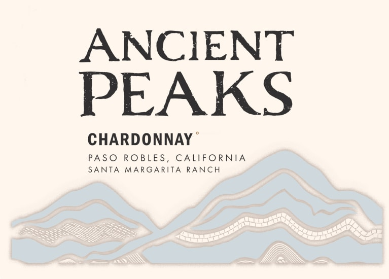 Ancient Peaks Chardonnay 2018  Front Label